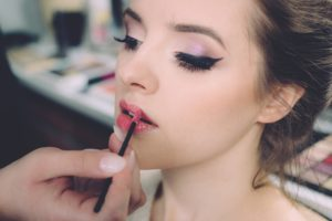 Picture of young woman and make up skills